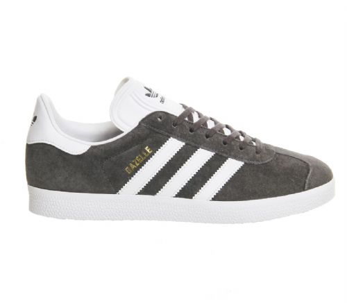 Adidas Originals Men's Gazelle OG Vintage Black Mink Grey Suede Leather Casual Trainers